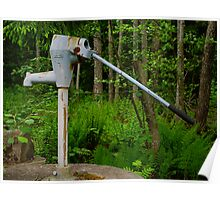 Abandoned water pump Poster