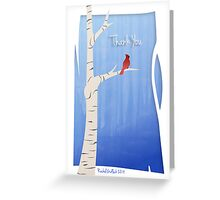 Thank You Card - Cardinal Greeting Card