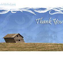 Thank You Card - Prairie House by Rachel Gidluck