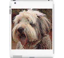 Bearded Collie - A Portrait in Oil iPad Case/Skin