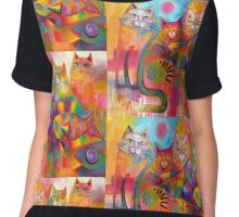 Cats & Fish  Chiffon Top