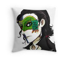 loki's masquerade Throw Pillow