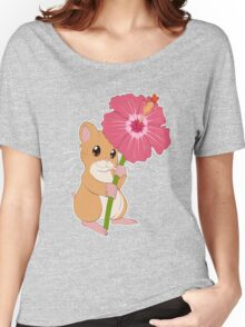 Hamster Hibiscus Women's Relaxed Fit T-Shirt