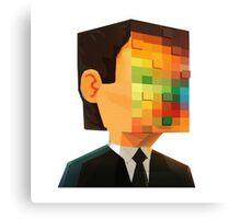 pixel head Canvas Print