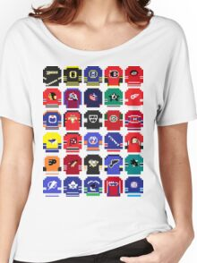 8-Bit Hockey Jerseys Women's Relaxed Fit T-Shirt
