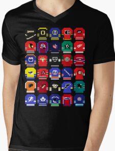 8-Bit Hockey Jerseys Mens V-Neck T-Shirt