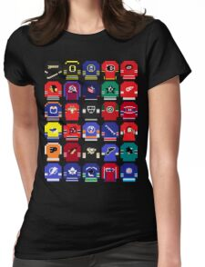 8-Bit Hockey Jerseys Womens Fitted T-Shirt
