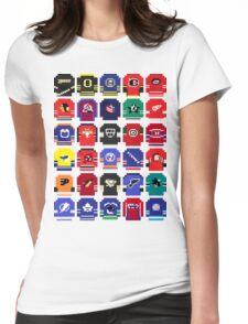 8-Bit Hockey Jerseys Womens Fitted T-Shirt