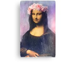 Mona Lisa Flower Crown Canvas Print