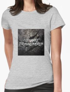 Midnight Tyrannosaurus Claw Womens Fitted T-Shirt