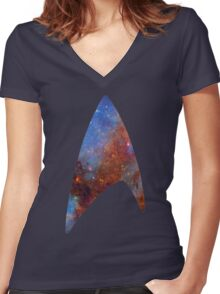 Starfleet Space Women's Fitted V-Neck T-Shirt