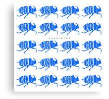 BLUE BEETLES  Canvas Print