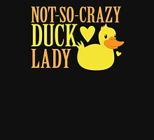 NOT-So-Crazy DUCK LADY Womens Fitted T-Shirt