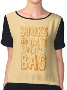 BOOKS AND CATS are my BAG Chiffon Top