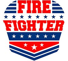 Firefighter rank badge emblem logo by Style-O-Mat