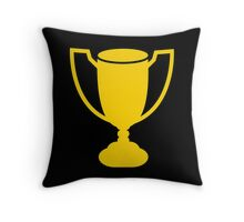 Yellow gold trophy Throw Pillow