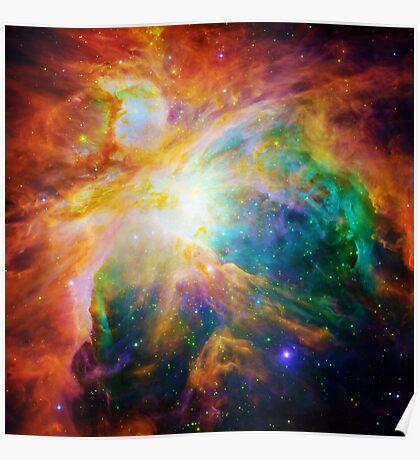 Heart of Orion Nebula   Infinity Symbol   Fresh Universe Poster