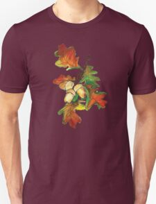 Garden leaves in fall with acorns Unisex T-Shirt