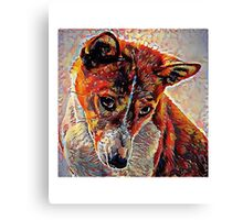 Basenji - A Portrait in Oil Canvas Print