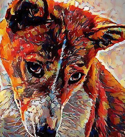 Basenji - A Portrait in Oil Sticker