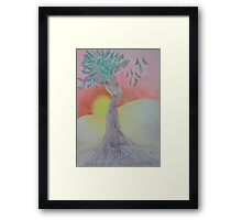 Tree of Woman, African landscape Framed Print