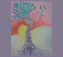 Tree of Woman, African landscape Kids Tee