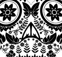 Day of the Dead Skull - Floral sugar skull Sticker
