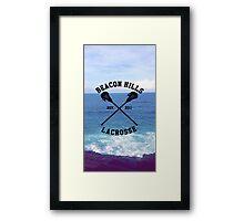 Teen Wolf Lacrosse Framed Print