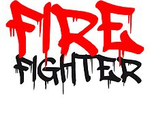 Firefighter Graffiti Logo by Style-O-Mat