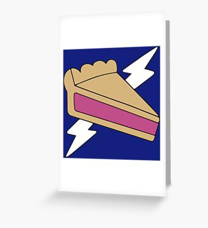 PIE MAN SUPER HERO Greeting Card