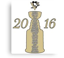 Pittsburgh Penguins Stanley Cup Champs 2016 Canvas Print