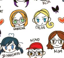 miraculous ladybug my fav character Sticker