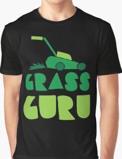 GRASS GURU (with lawn mower) Graphic T-Shirt