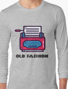 Old Fashion - Typewriter Long Sleeve T-Shirt