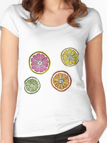 summer fruit Women's Fitted Scoop T-Shirt