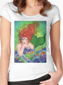 Mermaids Hiding place By Renee Lavoie Women's Fitted Scoop T-Shirt