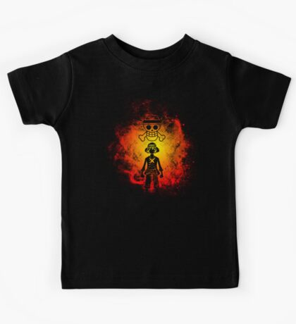 One Piece Silhouette Luffy Kids Tee