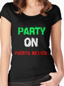 PARTY ON T-SHIRTS Women's Fitted Scoop T-Shirt