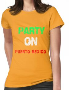 PARTY ON T-SHIRTS Womens Fitted T-Shirt