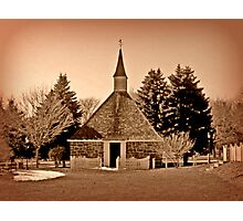 Church Of The Three Mile Run in Sepia Tones Photographic Print