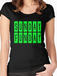 SUNDAY FUNDAY Women's Fitted Scoop T-Shirt