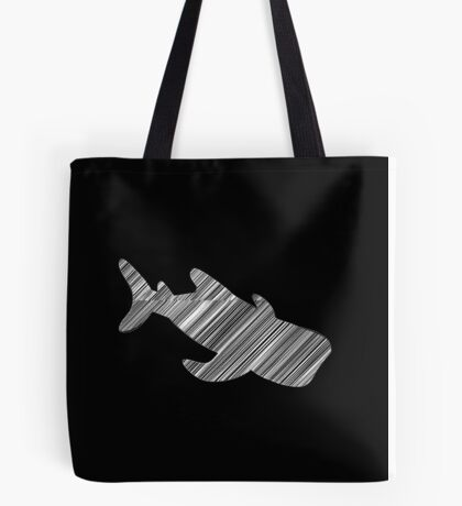 Whale shark sketched in white Tote Bag