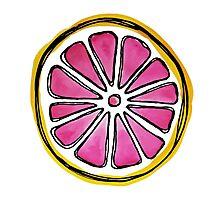 watercolor Grapefruit  Photographic Print