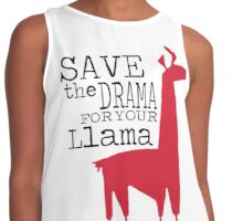 Save the drama for your llama Contrast Tank