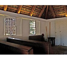 Inside The Sanctuary, Church of the Three Mile Run Photographic Print