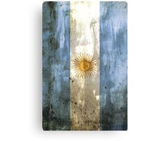 Argentinian Flag (Grunge Edition) Canvas Print