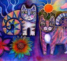 Kitticats two by Karin Zeller