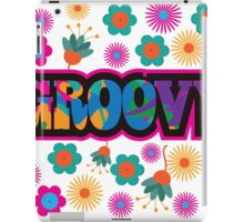 Sixties style mod pop art psychedelic colorful Groovy text design iPad Case/Skin