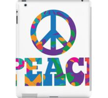 Sixties style mod pop art psychedelic colorful Peace text design iPad Case/Skin