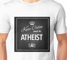 Atheism Keep calm design Unisex T-Shirt